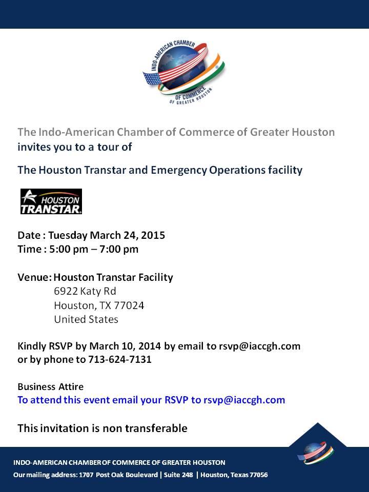 March 24 Houston Transtar event