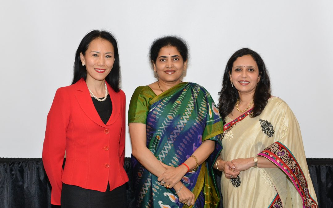 Host Women Mean Business featuring keynotes Y.Ping Sun and Asha Dhume