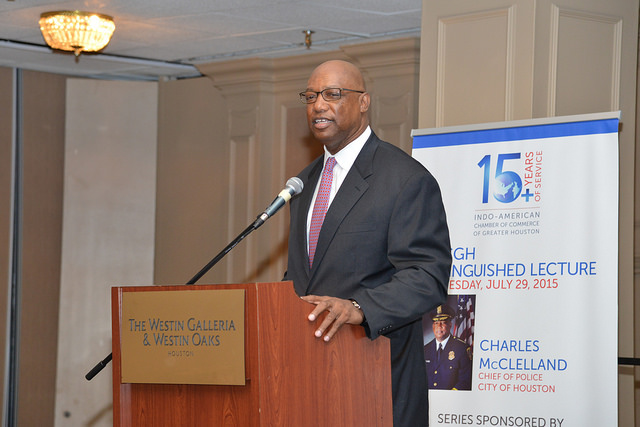 Distinguished Lecture featuring Charles McClelland, Chief of Police for the City of Houston