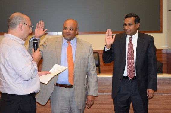 Photo Swearing In - Sanjay Ram - Barron Wallace-May 2015