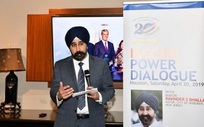 IACCGH Power Dialogue with Mayor Ravinder S Bhalla, the Mayor of Hoboken, New Jersey