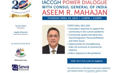 Covid 19 Webinar Series: Power Dialogue with Consul General Aseem Mahajan