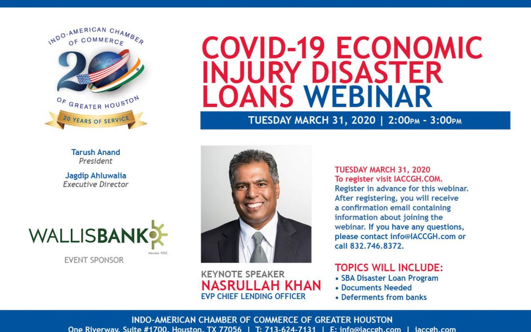 Covid-19 Economic Injury Disaster loans webinar