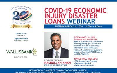 Covid-19 Economic Injury Disaster loans webinar