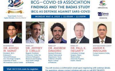 Covid-19 Webinar Series: BCG- Covid 19 Association, Findings and the BADAS Study