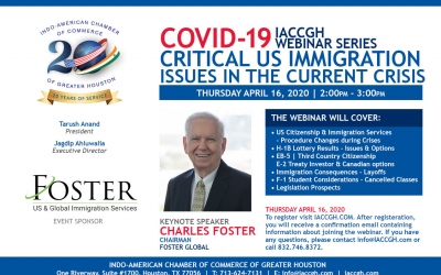 "Covid-19 Webinar Series "" Critical US Immigration Issues in the current crisis"""
