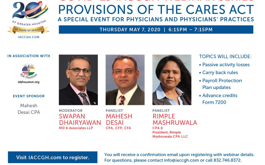 Covid-19 Webinar Series: Provisions of the CARES Act
