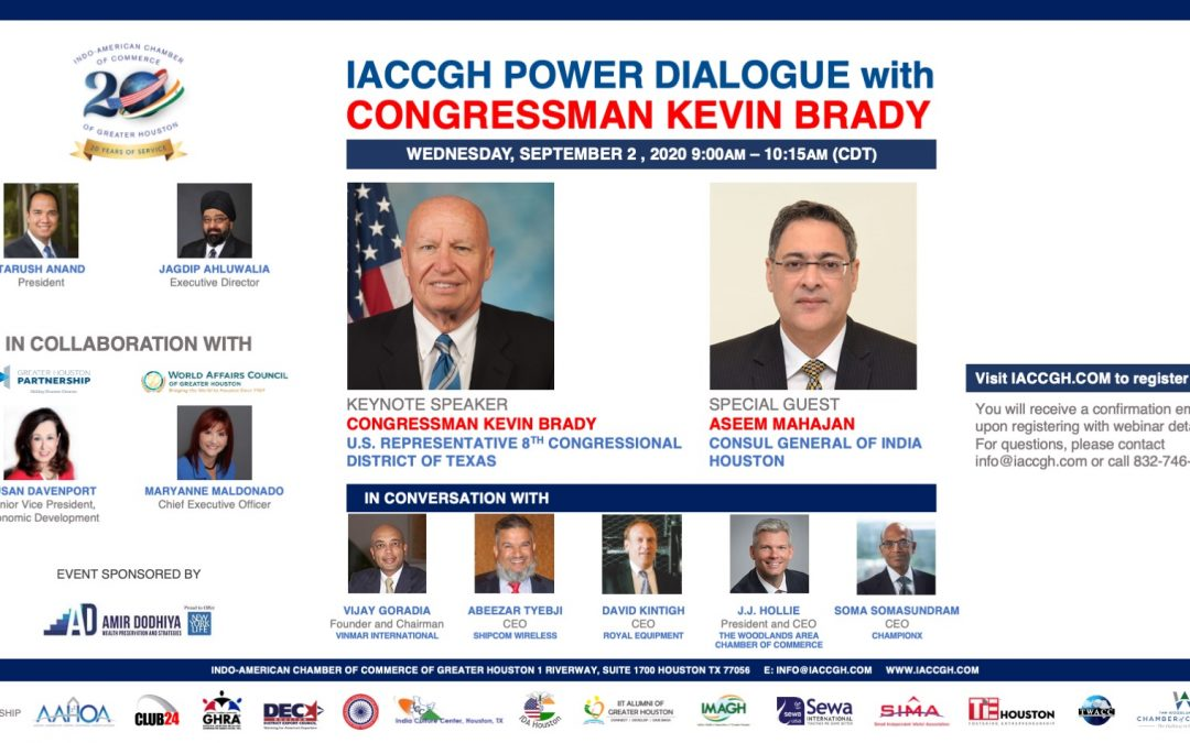 IACCGH Power Dialogue with Congressman Kevin Brady
