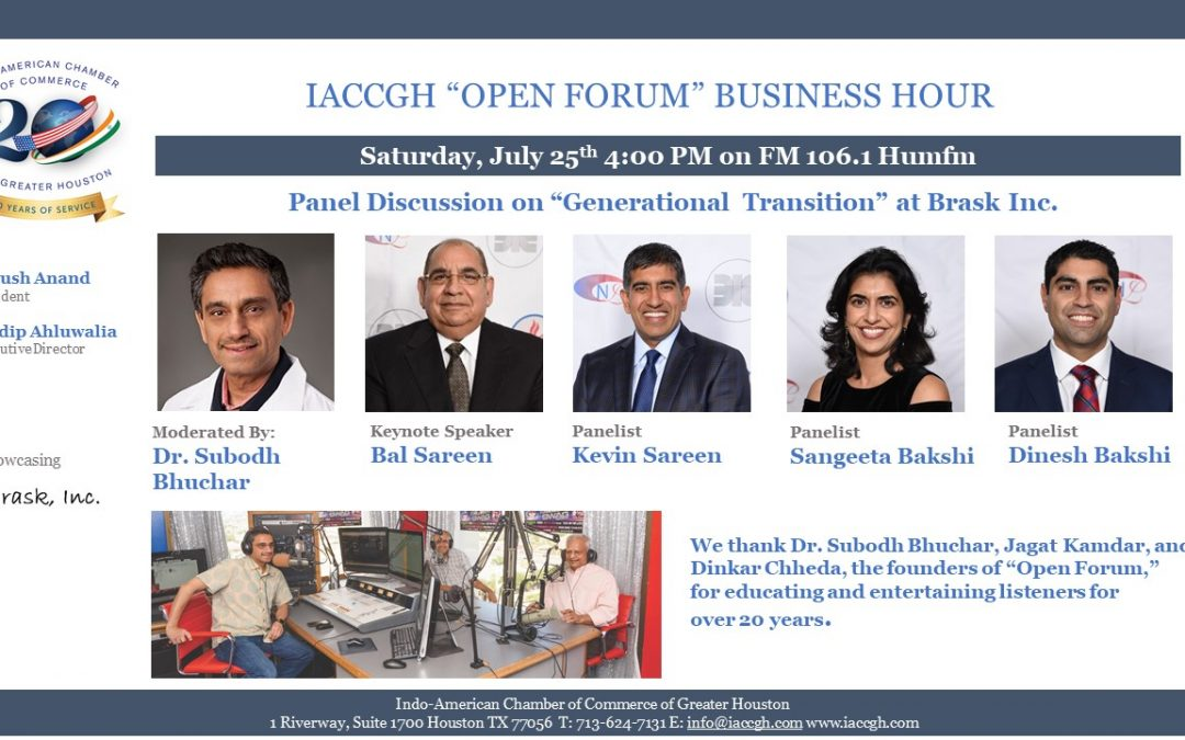 "IACCGH ""Open Forum"" Business Hour"