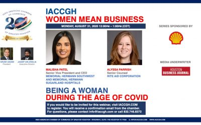 IACCGH Women Mean Business: Being A Woman During The Age of Covid