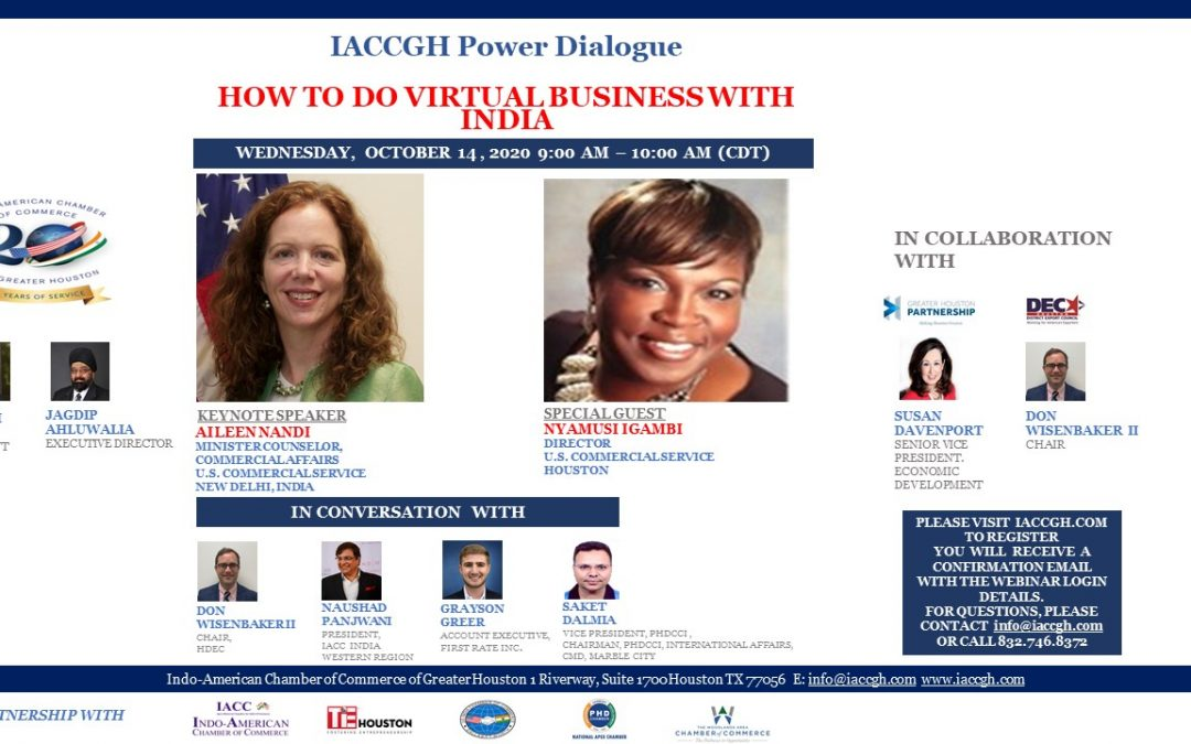 IACCGH Power Dialogue: How to do Virtual Business with India?