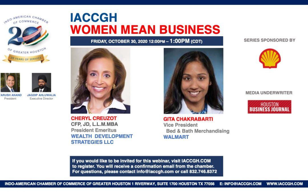 IACCGH Women Mean Business Featuring Cheryl Creuzot and Gita Chakrabarti