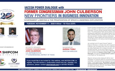 IACCGH Power Dialogue with Former Congressman John Culberson