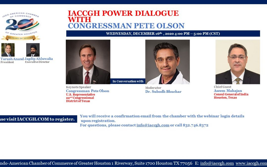 IACCGH Power Dialogue with Congressman Pete Olson