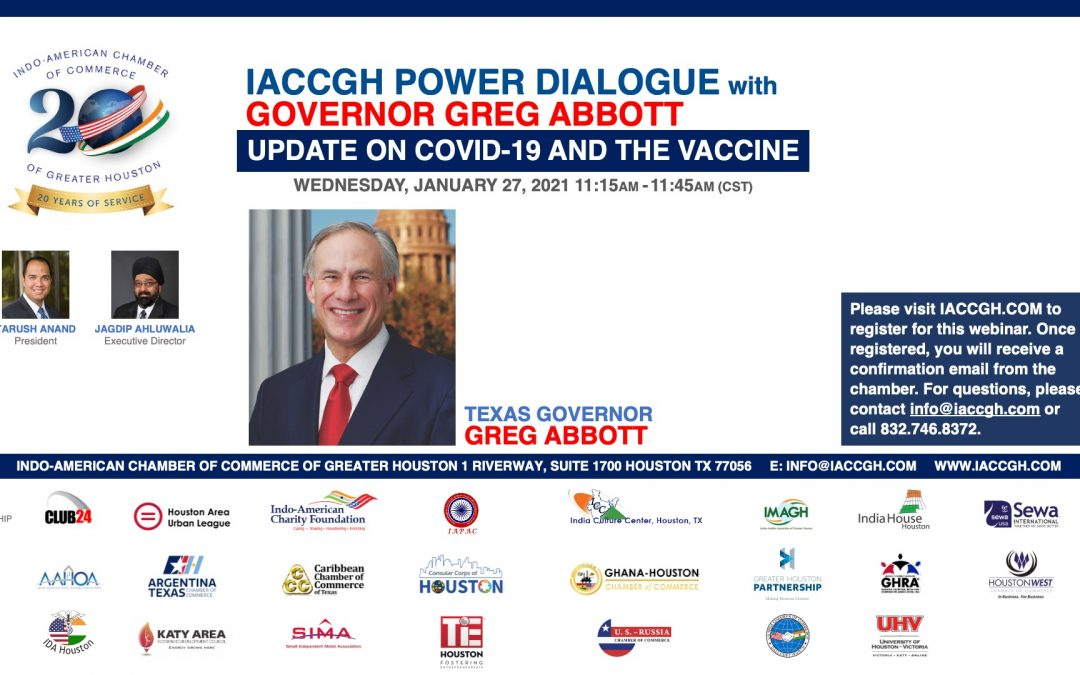 IACCGH Power Dialogue with Texas Governor Greg Abbott