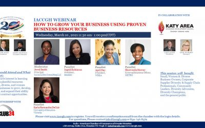 IACCGH webinar: How to Grow Your Business Using Proven Business Resources