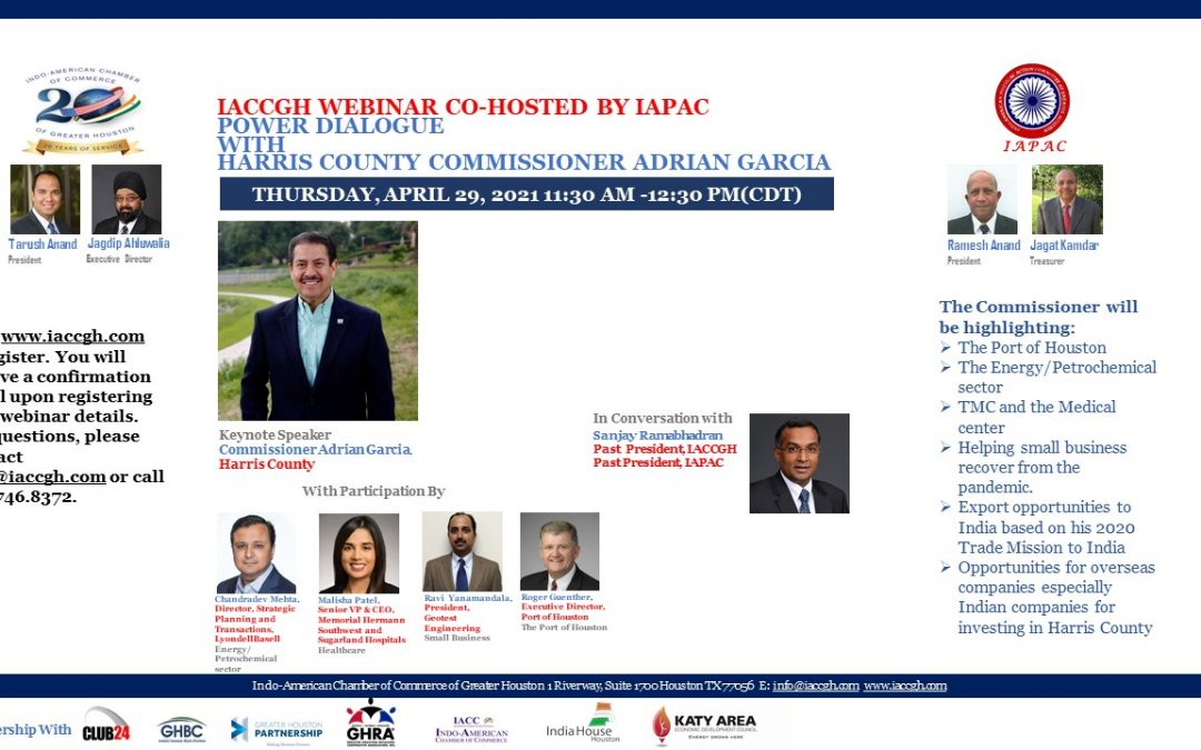 IACCGH Power Dialogue with Harris County Commissioner Adrian Garcia