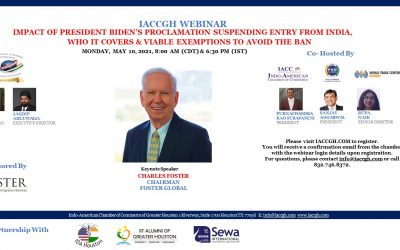 IACCGH Webinar: Impact of President Biden's Proclamation Suspending Entry From India, Who it Covers and Viable Exemption to Avoid the Ban.